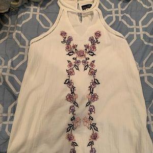 Sleeveless Embroidered Spring Dress